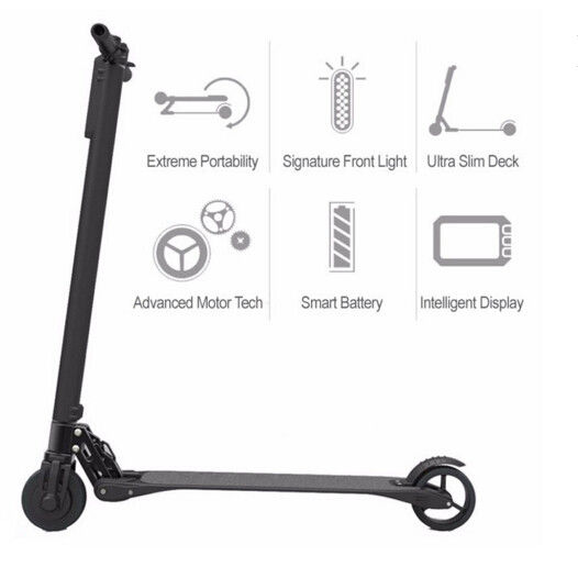 Extremely Light Foldable Electric Scooter adults , Magnalium Alloy
