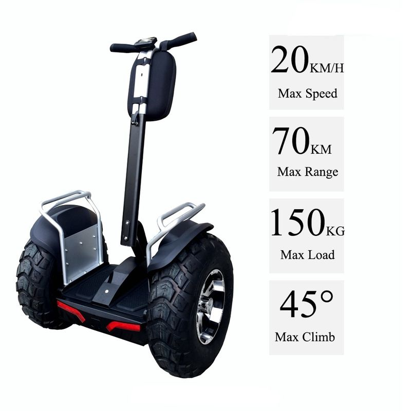 21 Inch Tire 4000W Brushless Segway Electric Scooter With Double Battery System