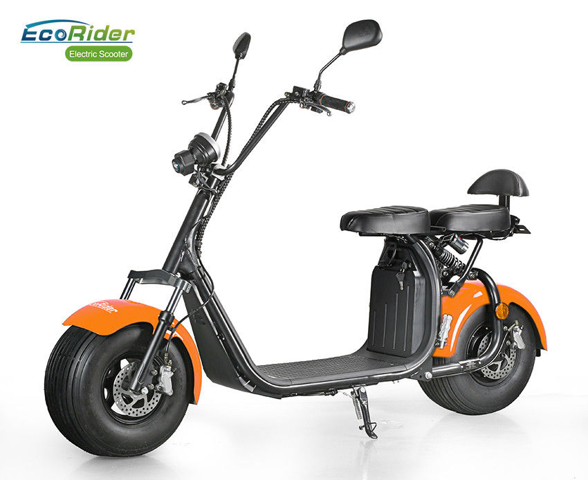 City Coco 1500w Two Wheel Electric Scooter , Fat Tire 2 Wheel Standing Scooter