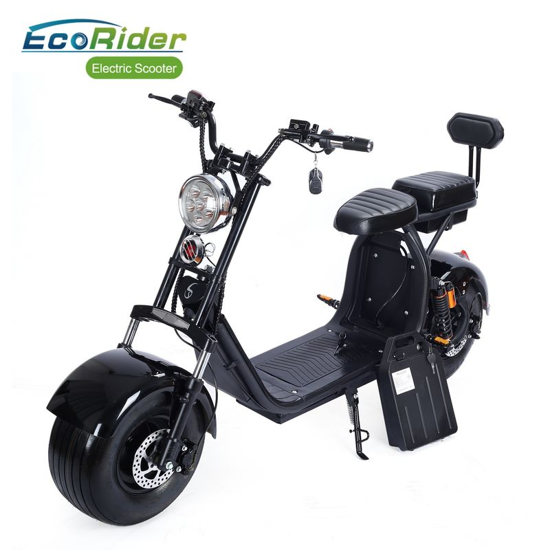 1000 W 2 Wheel Electric Scooter 12Ah 20Ah Double Rechargeable Battery 40km/h